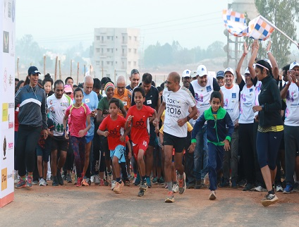Pride group organised the 5th edition of Bengaluru Runners Unity Run at Pride Vatika.