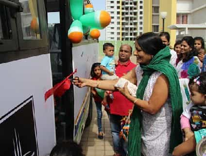 LAUNCH OF SHUTTLE BUS AT PRIDE AASHIYANA
