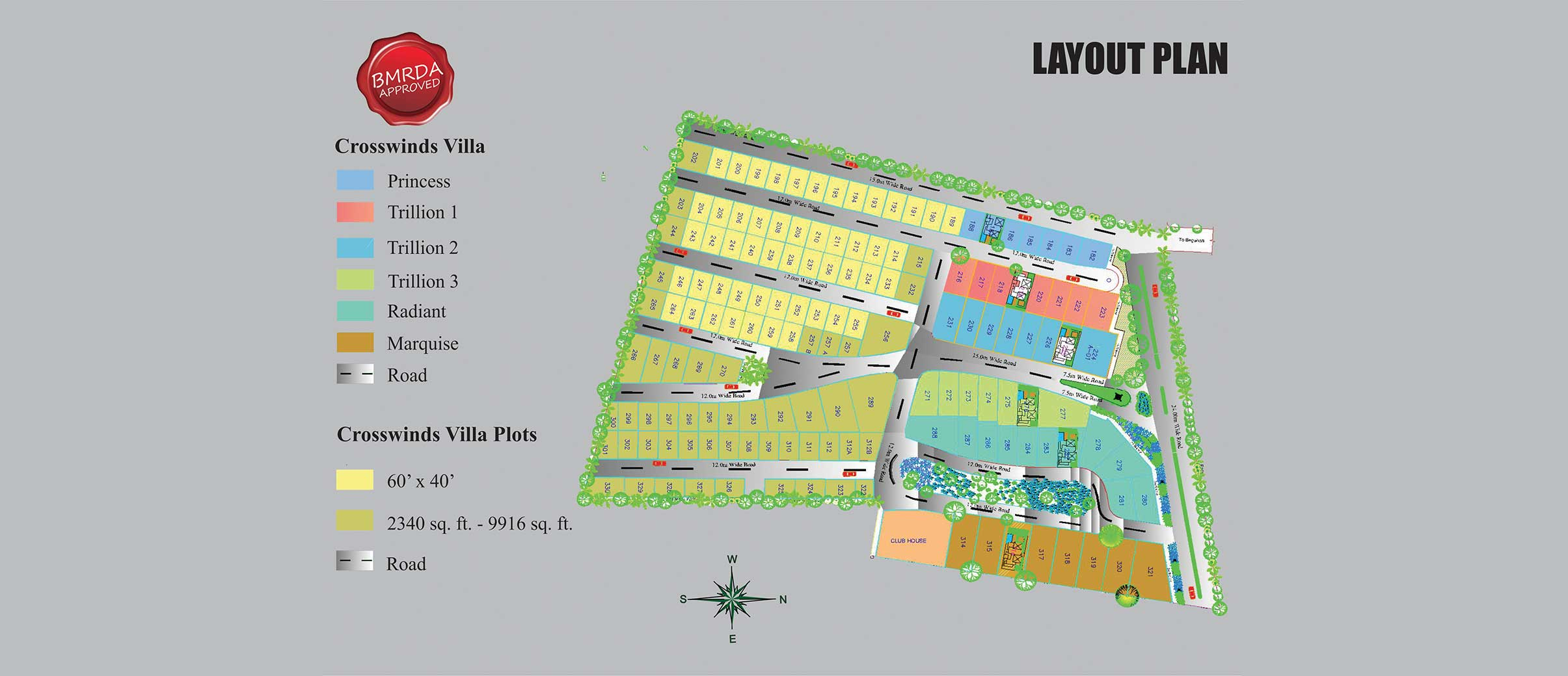 Pride Crosswinds Villa Plots - Master Plan