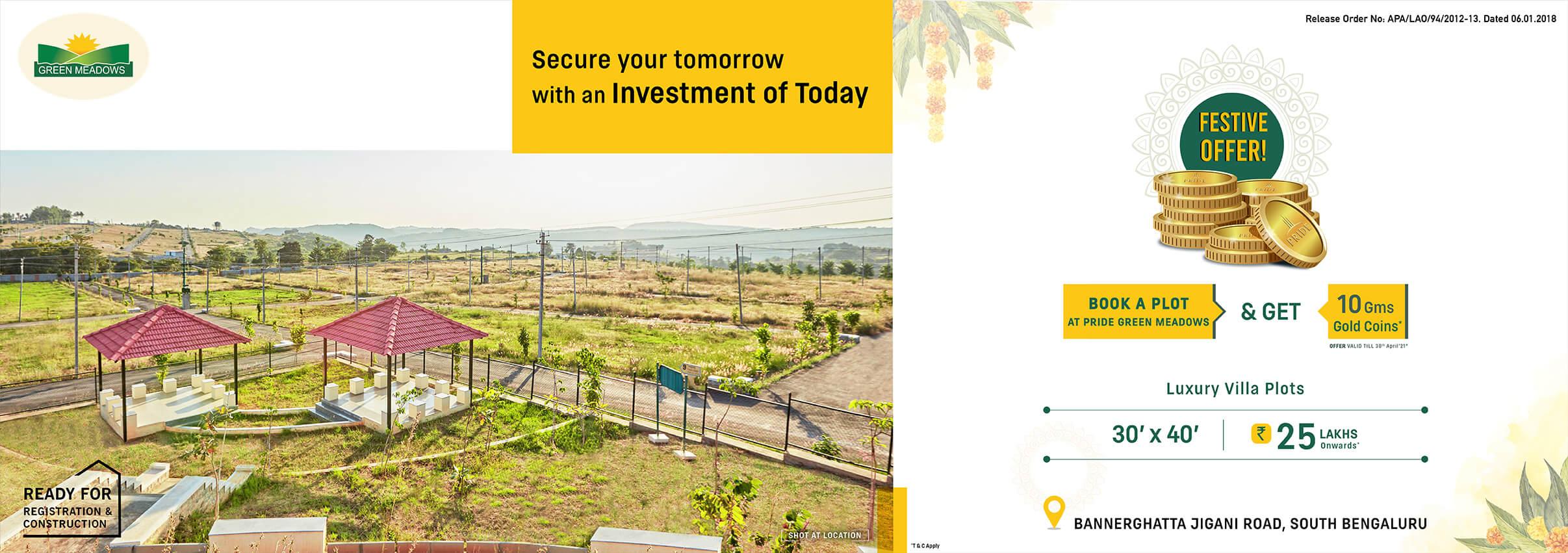 Green Medaows villa plots Apr 21