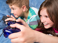 Kids video game zone